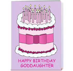 happy birthday goddaughter greeting card by kate taylor