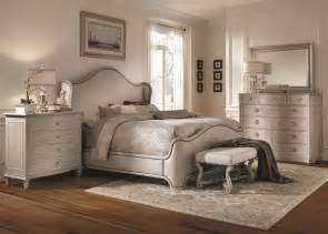 gray bedroom set chateaux grey upholstered shelter bedroom set from