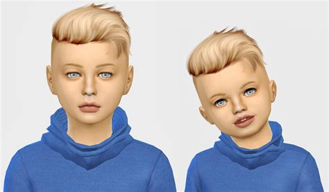 sims 4 child cc sims 4 hairs simiracle wings os0917 hair retextured