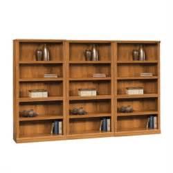 sauder 5 shelf bookcase sauder storage five shelf wall abbey oak finish bookcase