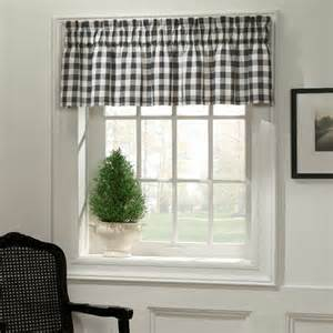 Black Check Curtains Classic Check Midnight Black And Fabric Valance By M Style