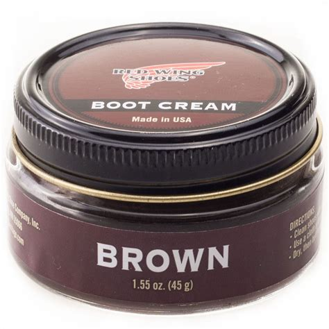 Boot R 011 Crem wing boot shoe care in brown