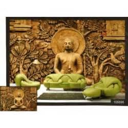 Buddha Wall Murals 3d golden meditation buddha wall mural