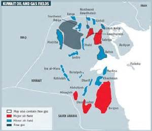 and gas fields map kuwait to develop heavy crude to increase production