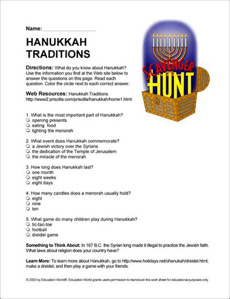 printable hanukkah quiz free printable grammar worksheets middle school abitlikethis
