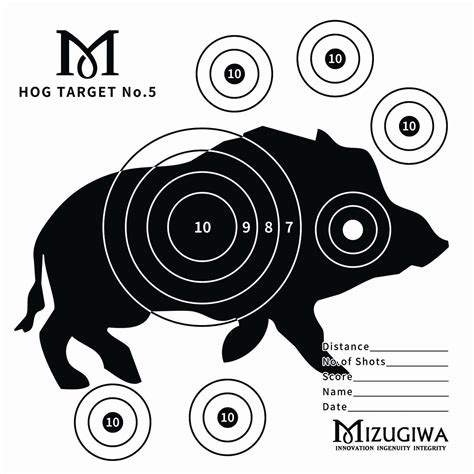 printable pig targets 150x air rifle shooting paper targets animal target