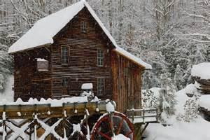 file glade creek gristmill winter snow fall postcard pub
