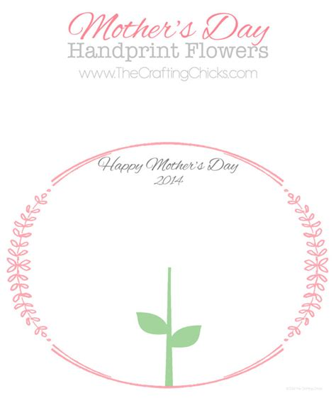 printable flowers mother s day mother s day handprint flower