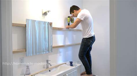 homemade modern ep94 diy sliding bathroom mirror homemade modern ep94 diy sliding bathroom mirror