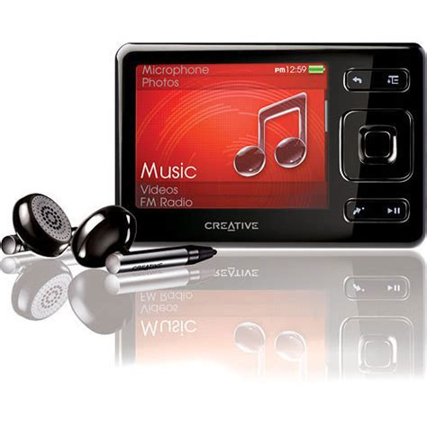 creative labs zen 16gb portable media player 70pf216100111 b h