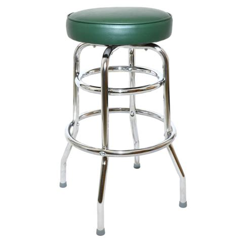 Bar Stool Swivel Base by Ring Swivel Bar Stool With Chrome Base And Green
