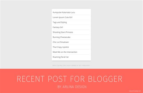 cara membuat post dan fungsi tool di blog m4sdoel blog cara memasang recent post widget di blog arlina design