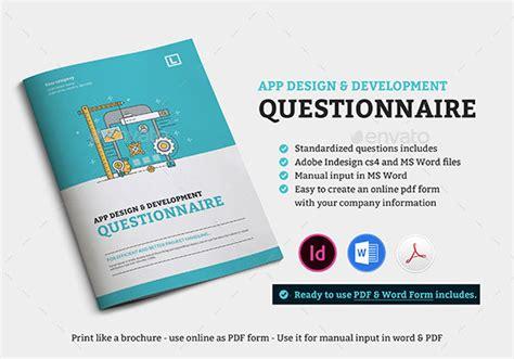 app design questionnaire 20 best web design brochure templates print idesignow