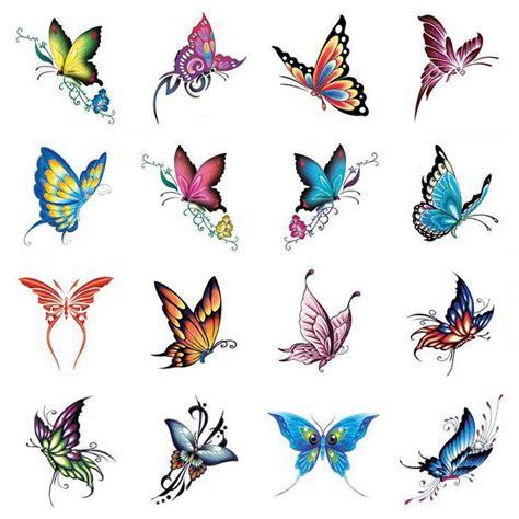 tatto kupu kupu warna grosir pakai warna warni kupu kupu tato tubuh kaki lengan