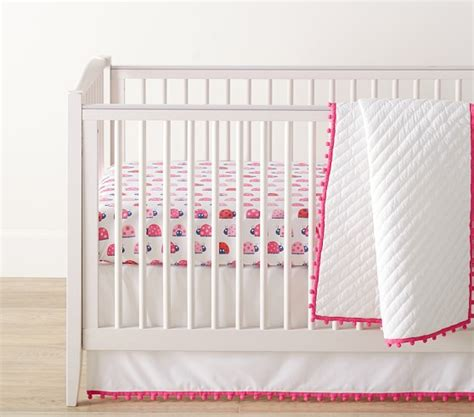 Organic Nursery Bedding Sets Organic Pom Pom Baby Bedding Sets Pottery Barn