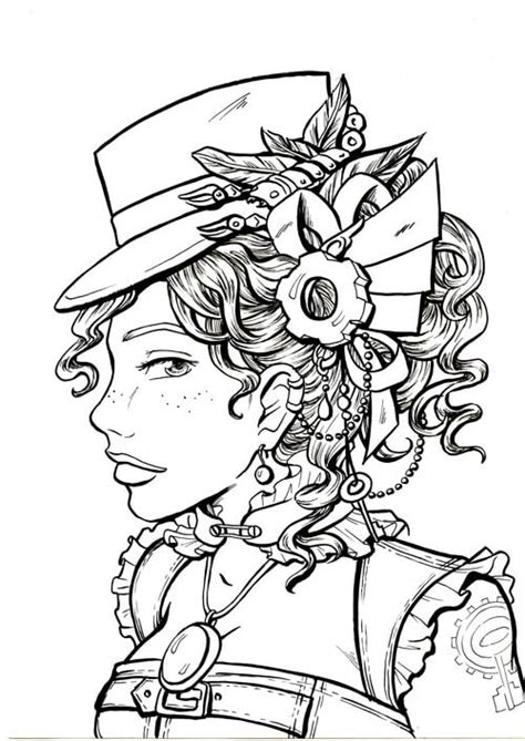 steam punk detailed coloring pages for adults steam best