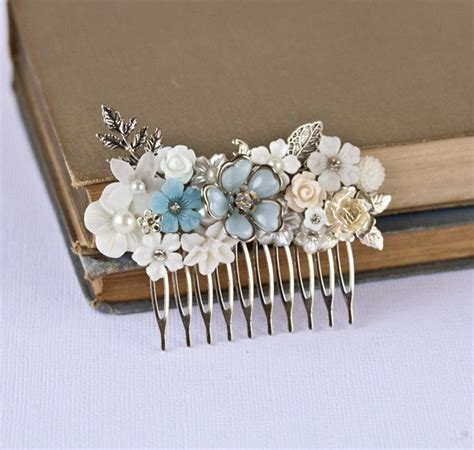 Bridal Hair Comb Wedding Hair Accessories Vintage Shabby Chic Wedding Accessories