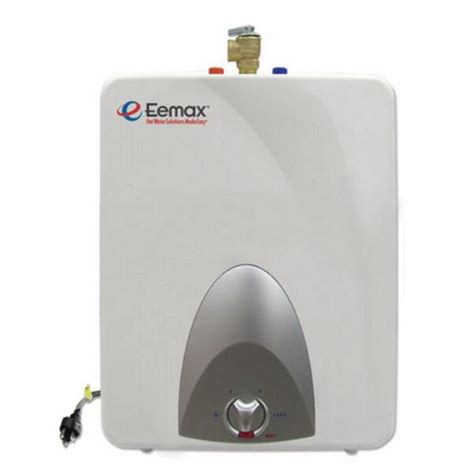 Small Water Heater Cost Tankless Water Heater Reviews Review Eemax Emt6 6 Gallon