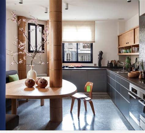 habillage poteau beton kitchens en  poteau beton