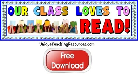 printable classroom banner free reading bulletin board display banner our class does