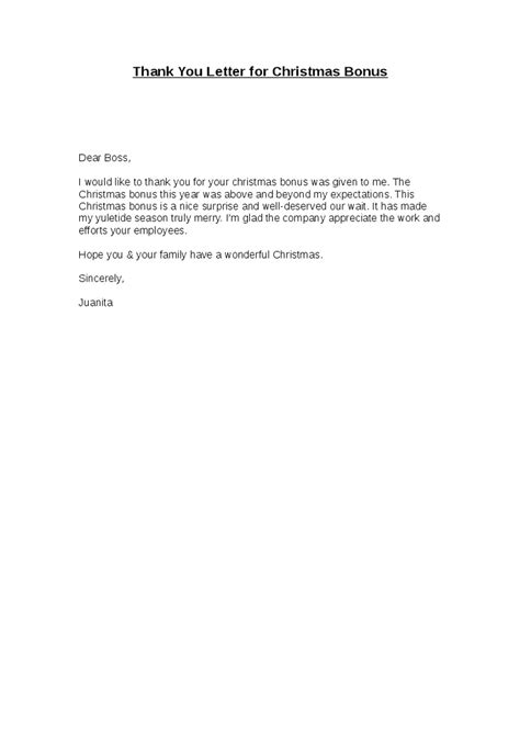 Bonus Thank You Letter Letters Font Merry Business Letter Template