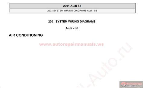 car repair manuals download 2001 audi s8 head up display audi s8 2001 system wiring diagrams auto repair manual forum heavy equipment forums