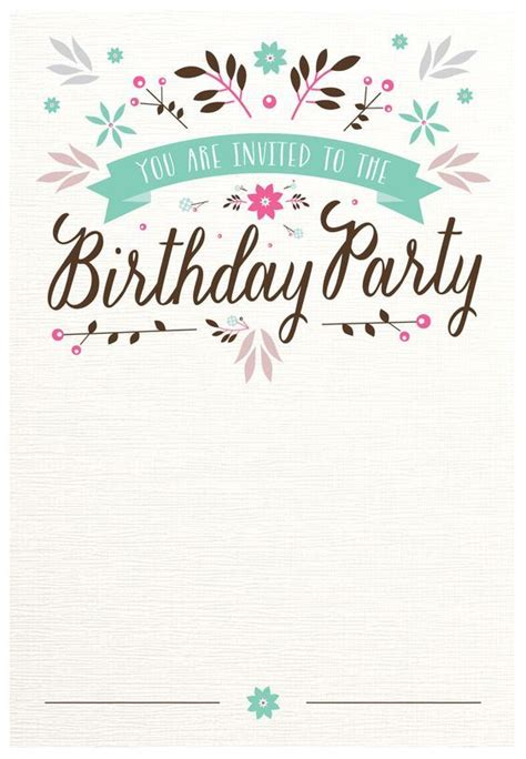 Birthday Card Vintage Template by Best 25 Free Birthday Invitation Templates Ideas On