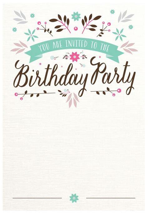 25  unique Free birthday invitation templates ideas on