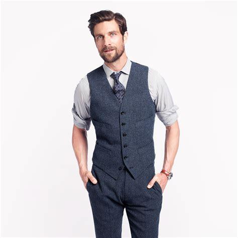 j crew ludlow suit vest in wool in blue for lyst