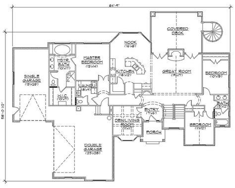rambler floor plan rambler house plans with basements professional house