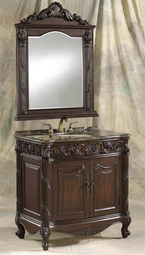 marble bathroom vanity and wooden cabinet in classic