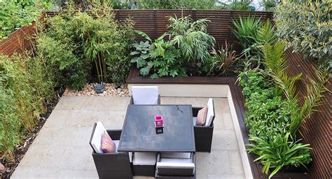 Raised Garden Bed With Trellis Urban Jungle Garden Design Clapham London Bamboo