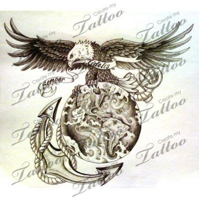 eagle globe tattoo meaning collection of 25 globe n eagle anchor tattoo design