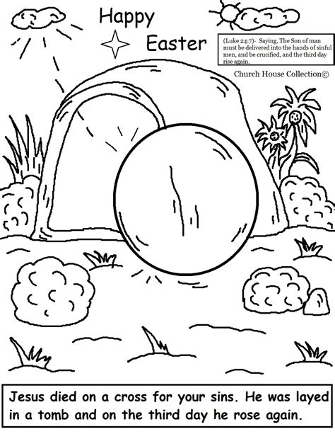 Resurrection Coloring Page church house collection easter jesus resurrection