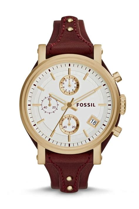 Fossil Original fossil original boyfriend chronograph leather
