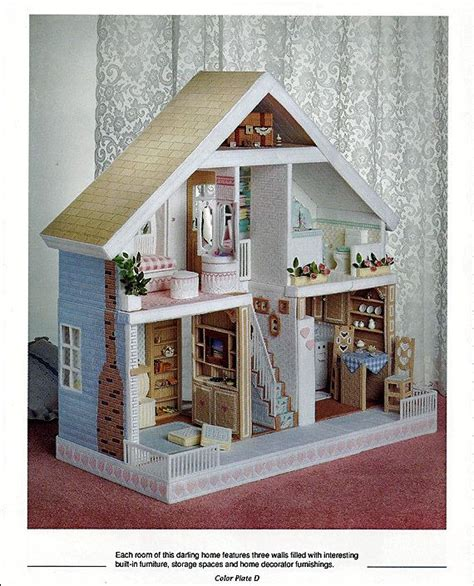 pattern for barbie doll house 1000 images about plastic canvas houses on pinterest