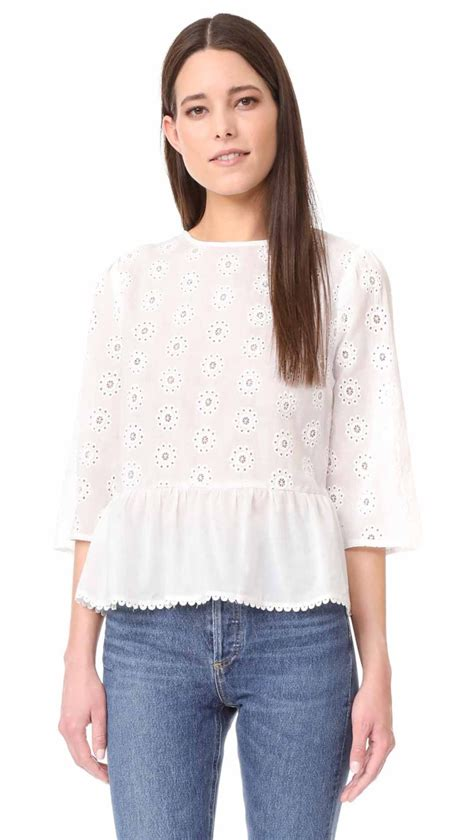 Bell Sleeve Top Original the best eyelet tops 100 for summer 2017