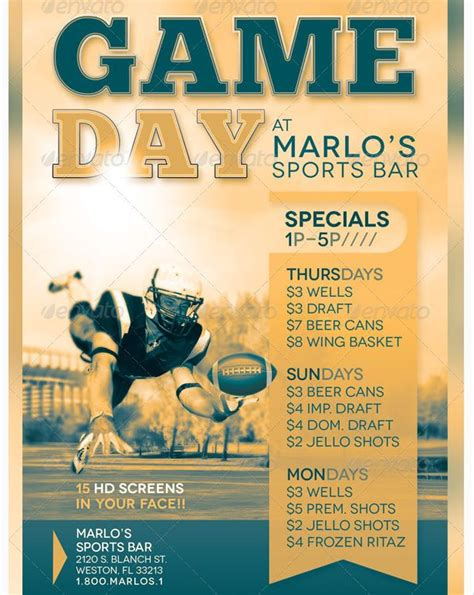 sports event flyer template day sports bar flyer template flyer templates