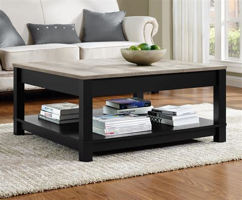 Living Room Table Collections Ameriwood Furniture Carver Coffee Table Black Weathered Oak