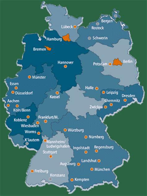 Deutsches Büro Grüne Karte Fax by Deutschlandkarte