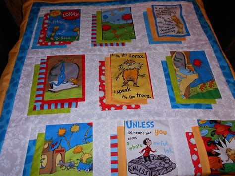 Dr Seuss Quilt Pattern by Bloom Where You Re Planted Working On The Lorax Quilt