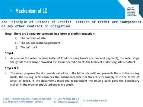 Letter Of Credit Mechanism Letter Of Credit Lc Presentation