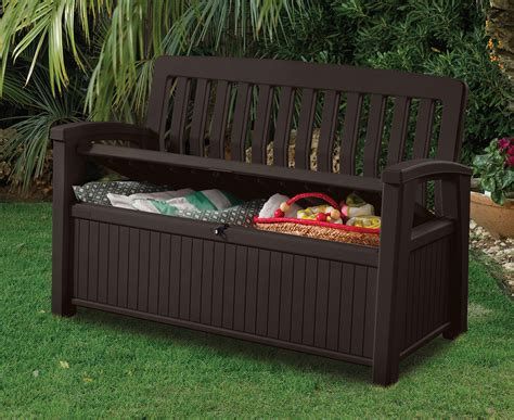 keter brown storage bench keter patio 227l storage bench brown great daily deals