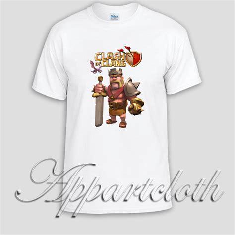 T Shirt Clash Of Clan Black clash of clans king unisex tshirt
