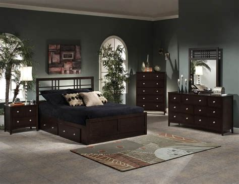 Bedroom Furniture In Espresso Colors Bedroom Set With Storage Ideas Decoration Channel
