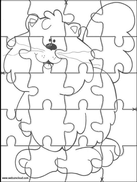 printable animal jigsaw 8 best puzzles images on pinterest for kids jigsaw