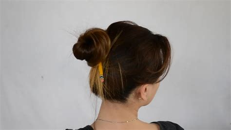 without hair how to make a bun without a hair tie 8 steps with pictures