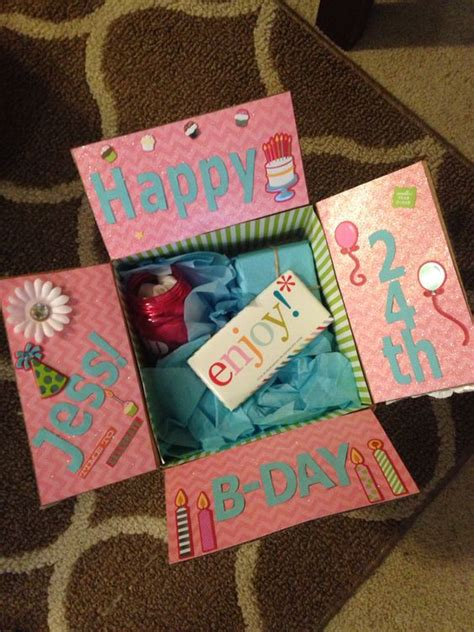 best friend birthday box decorate the inside of the box