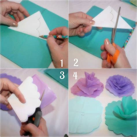How To Make Tissue Paper Flowers Step By Step - 18 best photos of how do you make a paper step by