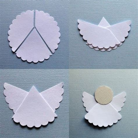 pattern paper angel how to make simple origami angel paper craft step by step